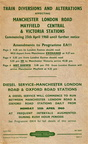 Original handbills for the alterations in connection with the rebuilding and electrification at Piccadilly..in 1960 1