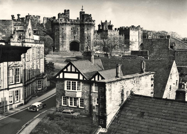 Lancaster Castle from a guests room at the Royal Kings Arms.1970s.jpg