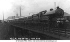A GREAT Central Railway hospital train at Guide Bridge during the First World War