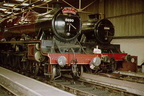 Jubilees LEANDER and BAHAMAS in the new shed on the 2nd April 1978.