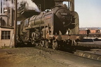 72005 Clan Macgregor under the coaling plant at Perth in 1962.