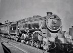Clean class 5 No. 44909 at Bletchley on a Rugby - Euston stopper in 1957