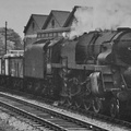 Crosti Boilered 9F No. 92024 passing Luton in 1959