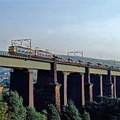 Dinting Viaduct in July 1980 2 x Class 76 eastbound.