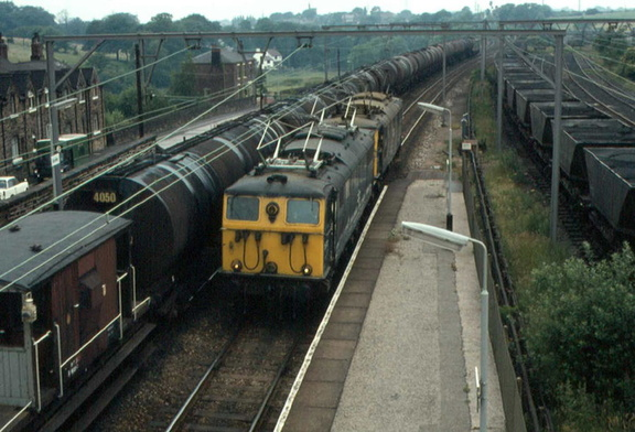 76012 + 76027 at Godley Junction on 12-7-1977