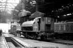 1 0-4-0ST 47000 inside Derby roundhouse in the 1960s. Photo is part of the Richard Gennis collection.