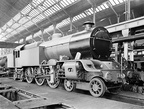 4-6-4 Baltic tank locomotives in the erecting shop at Horwich Works, Lancashire,