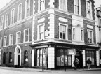 Oddfellows Hall, junction of Booth Street and Stamford Street. The first floor was once the Oddfellows Hall Cinema.