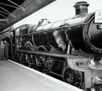 locomotive Saint David pictured waiting at the platform before departing from Snow Hill for Swindon on a journey organised by the Midland area of the Stephenson Locomotive Society, June 1952