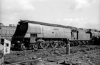 34075  264 Squadron at  R.S.Hayes-Birds Tremains Yard, Bridgend scrapyard in 1965.