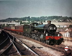 6833 Calcot Grange approaches Bath Spa on a Salisbury  Cardiff train in 1961