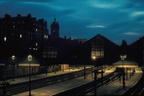 A beautiful sky over beautiful station Nottingham Victoria early 60's on the left is the Victoria Hotel