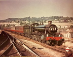 6833 Calcot Grange approaches Bath Spa on a Salisbury - Cardiff train in 1961