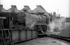 Maunsell 2-6-0 31803 works onto the turntable at Guildford shed in the mid 1960s