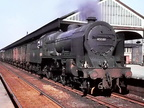 Un-rebuilt Patriot 45501 'St Dunstans '...Freight through Warrington Bank Quay station.. WCML 1950's.