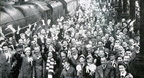City fans at St Pancras in 1961 for the FA Cup final but I'm not convinced it's St Pancras,