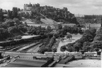 Edinburgh Castle and Waverley station