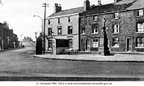 DUKINFIELD - Globe Square - showing the Globe Hotel, the bottom of Astley Street and the War Memorial - 1960.