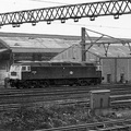 47338 passing Dewsnap sidings and Dukinfield Wagon Works 1977