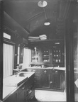 GCR KITCHEN OF COMPOSITE RESTAURANT CAR DUKINFIELD 8x6 LNER OFFICIAL PHOTO 1913