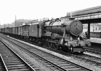 Ex-GWR 4-6-0 County class No 1014  County of Glamorgan  passes through Snow Hill station with freight traffic on the 19th July 1963.