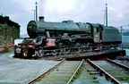 Jubilee 45632  Tonga  on the turntable at 9B Stockport Edgeley M.P.D.1960's.
