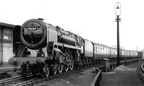 'Brand New 'Britannia No.70049 ,running in ,passing Crewe North Signal Box.1954