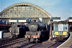 Jubilee 45705 'Seahorse'  Fairburn 2-6-4T 42064 and a d.m.u. set..Manchester Central 1964