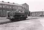 Ex GWR engines did not often visit Manchester in BR days but here is Pannier tank 9661 at Beyer Peacock's Gorton works on 4.8.61 when it visited for overhaul. Photo J W Sutherland.