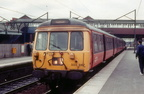 Guide Bridge. Class 303`s Glasgow Blue Trains transferred to Greater Manchester in the 1980`s