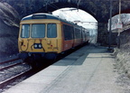 Class 303's, some of which I believe were transferred to Manchester from Glasgow. Here is No 303 060 in Greater Manchester PTE livery leaving Hadfield working back to Piccadilly c 1986.