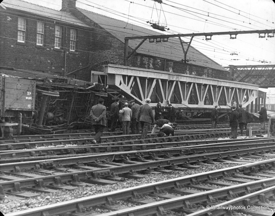 Accident at Guide Bridge Railway Station 1950s 1