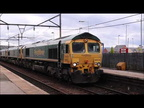 5 Class 66 on a working from Earls Cement to Crewe at Guide Bridge Station 27-06-2020