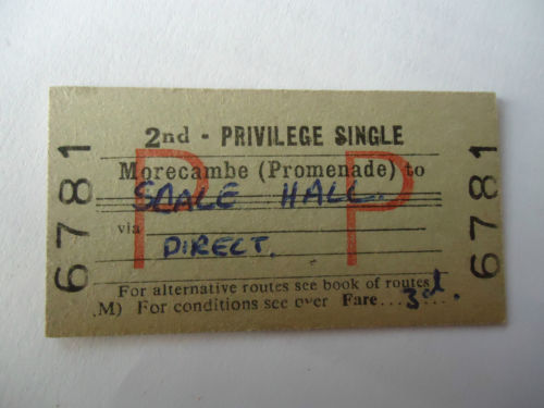 Morecambe to Scale Hall Ticket
