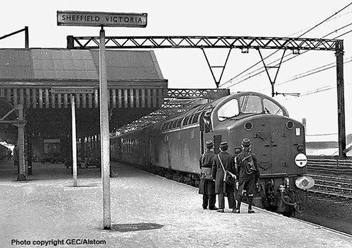 English Electric Type 4 D200 at Sheffield Victoria ,1958..jpg