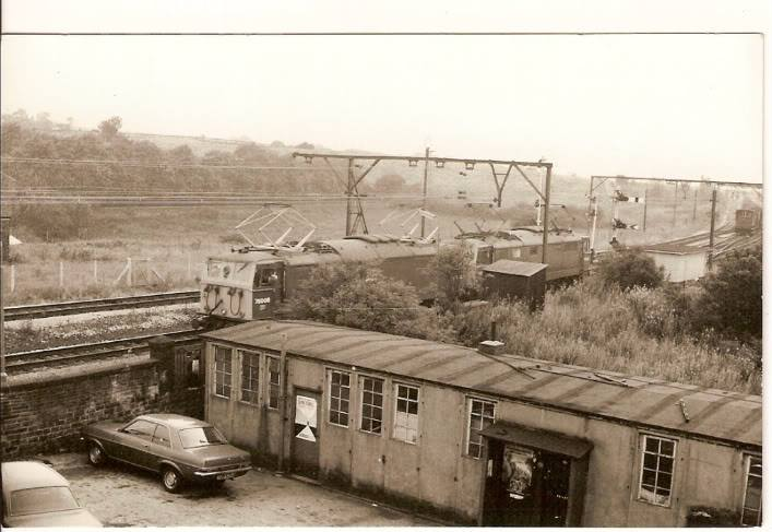 Trains at Godley Station - around 1973