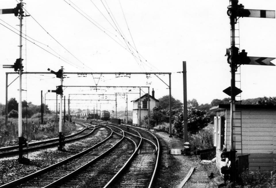 Brookfold signal box Godley Junction on 6.7.1977.