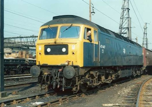 47447 at Dewsnap sidings, Guide Bridge May 14, 1978..