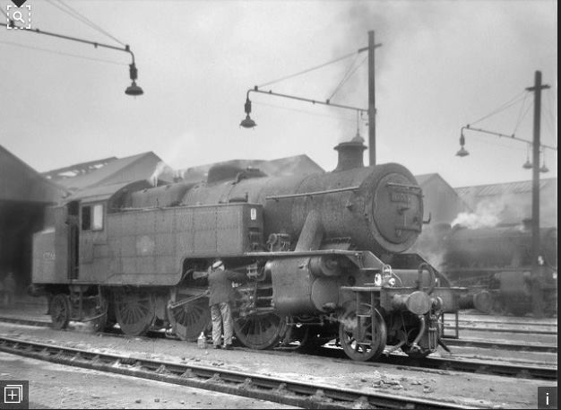 Trafford Park shed 9E, Stanier 2-cyl tank 2-6-4.